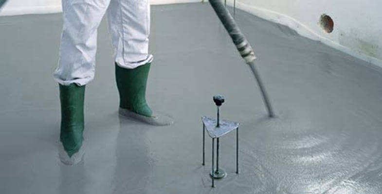 flow screed application